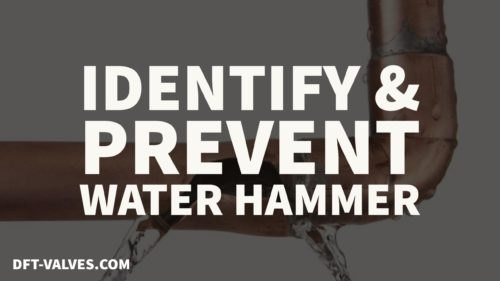 fixing water hammer