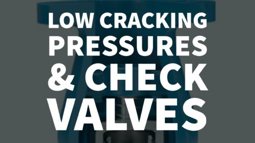 condensate line check valve