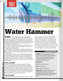 Valve World Feature: Water Hammer