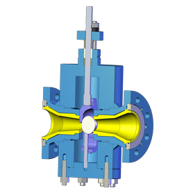 Ultratrol Flanged Abrasive Service Control Valve