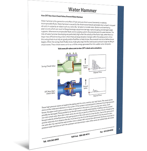 Water Hammer Summary