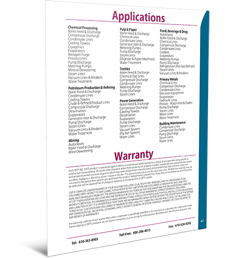 Applications & Warranty Info