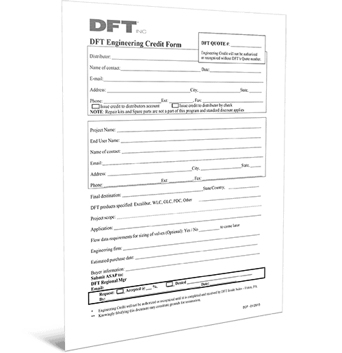 DFT Engineering Credit Form